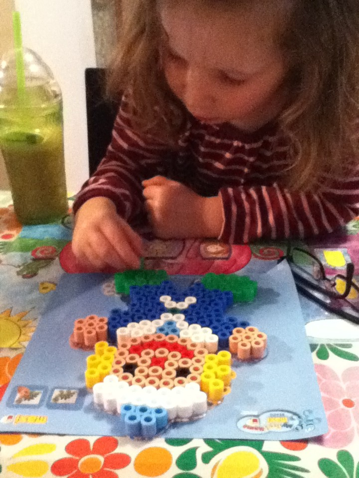 H and her Hama Beads creation