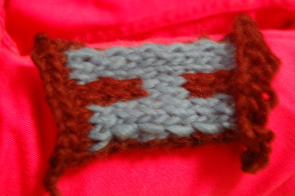Knitted H