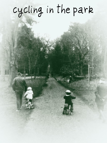 Cycling in Cheam Park