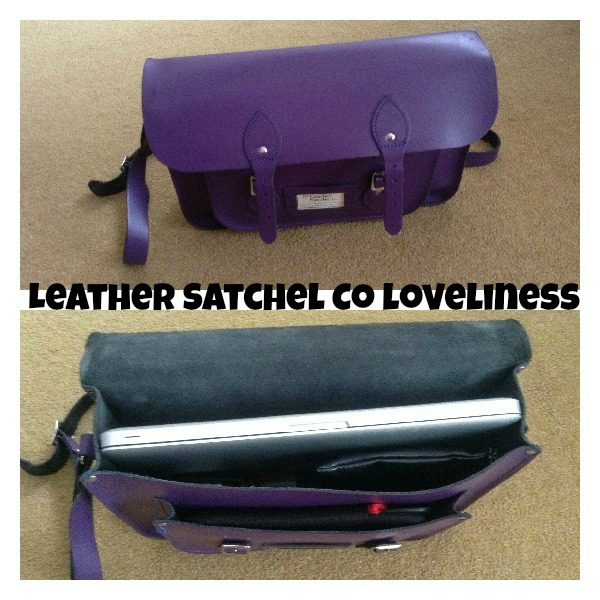 Leather Satchel Co Purple Satchel