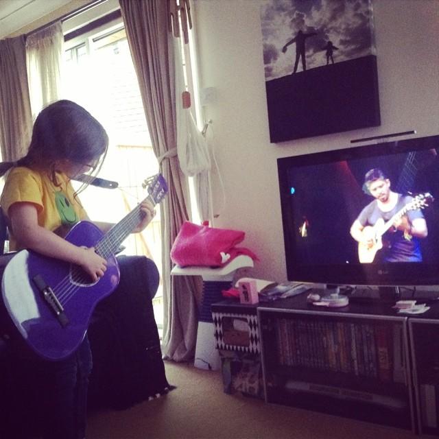 H on guitar