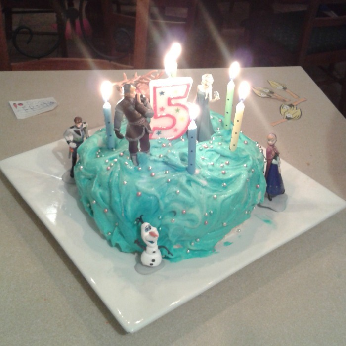 Frozen theme Ice Cream cake
